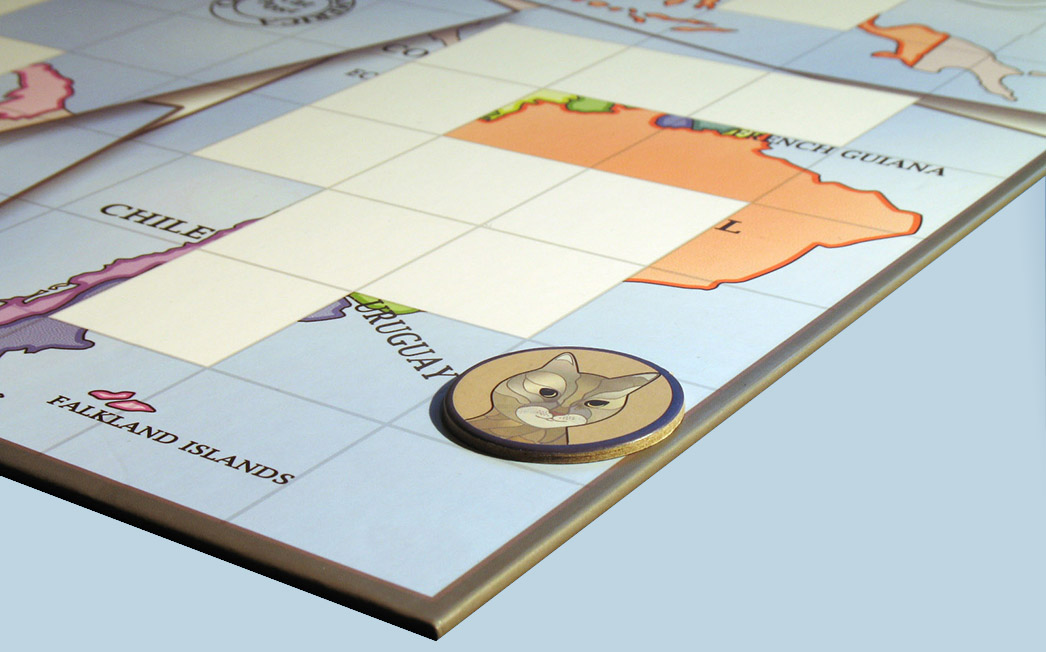Cartocat The Traveling Cat Game Board