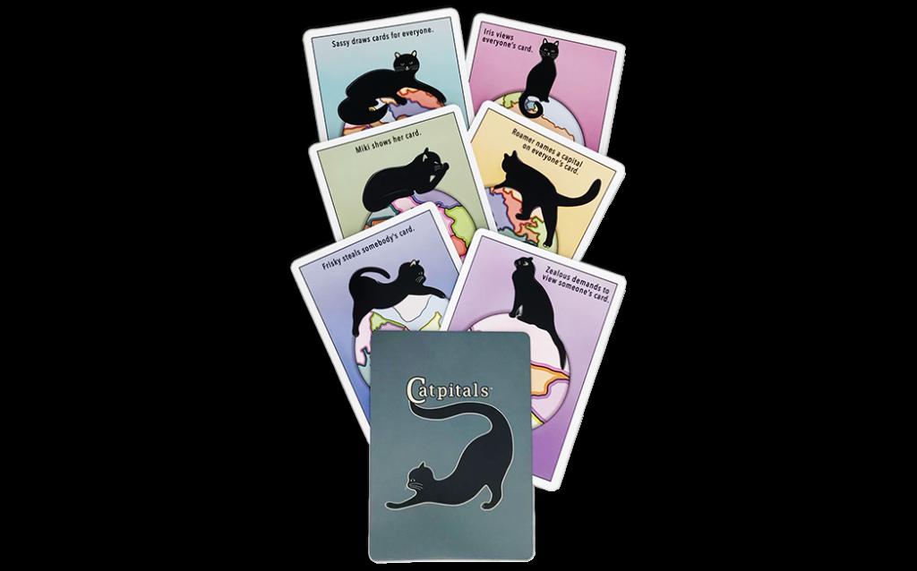 Cartocat Catpitals Card Game Cats